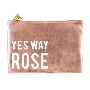 Santa Barbara Design Studio Bags - 🆕Yes Way Rosé Rose Gold Pouch